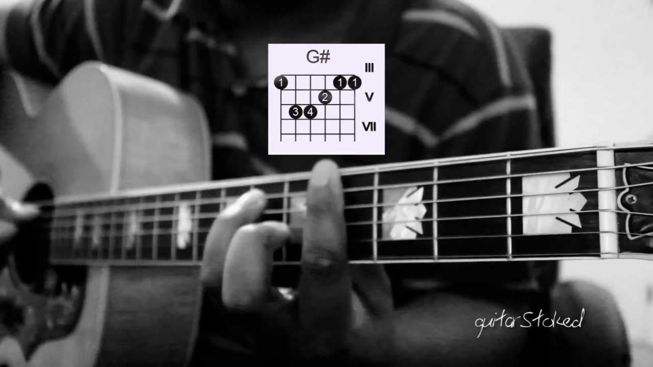 Bruno Mars Treasure Guitar Demonstration With Chords Youtube