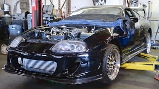 Toyota Supra Intercooler + Bumper MOUNTED! (update)