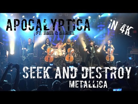SEEK AND DESTROY - Apocalyptica With Emil & Dariel Cello Cover