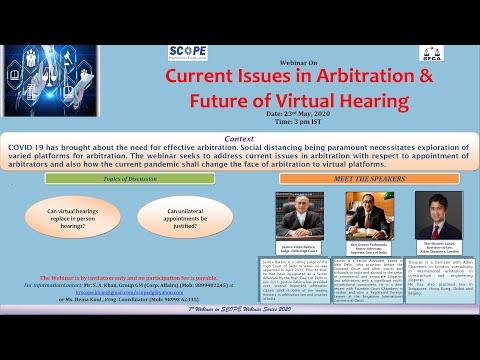 Webinar On Current Issues in Arbitration & Future of Virtual Hearings