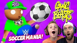 Soccer Mania! WRESTLERS in Gang Beasts 3! KIDCITY GAMING