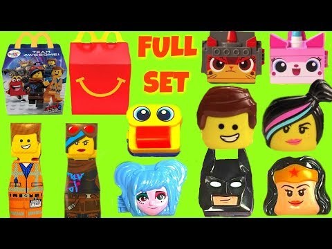 Full Set Of The Lego Movie 2 McDonald's Happy Meal 2019