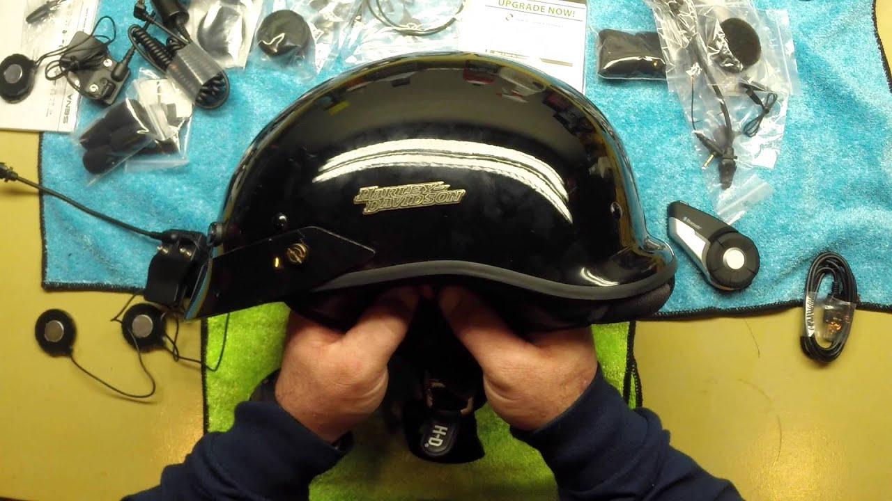 Sena 20s Open Box Half Helmet Install Youtube