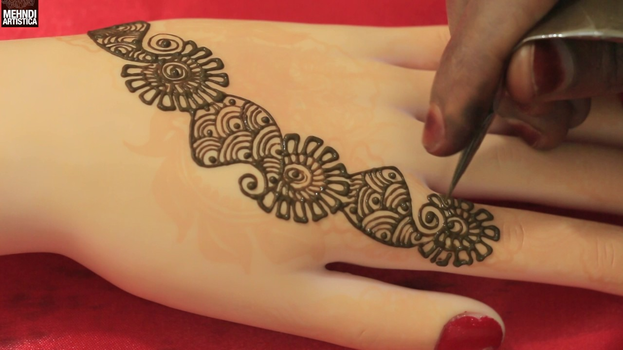 Simple Mehndi Designs For Hands 2017: 2017 MehndiArtistica Art Mehendi rh:youtube.com,Design