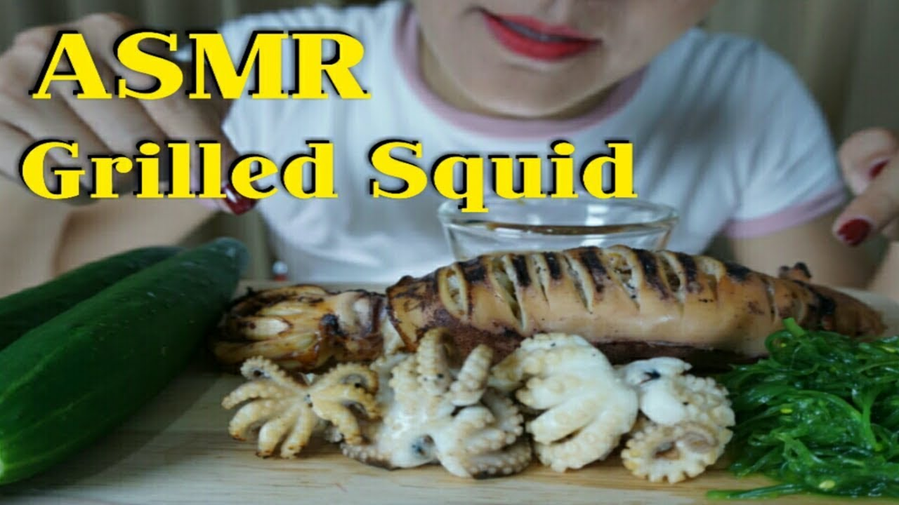 Asmr Grilled Squid Grilled Dollfusoctopus No Talking