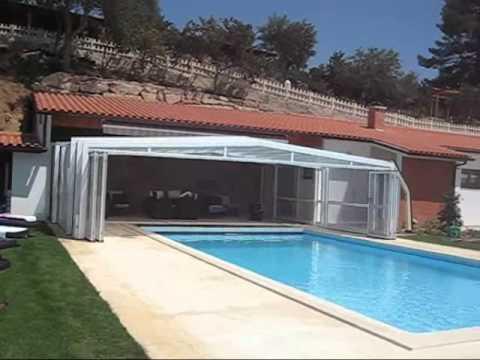 Cobertura telesc pica para piscina cobertura 3 ngulos for Coberturas para piscinas