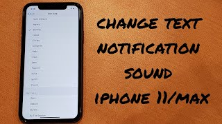 A tutorial video demonstrates how to change the text notification sound on iphone 11 /pro/ max. check out other tutorials: https://www.....