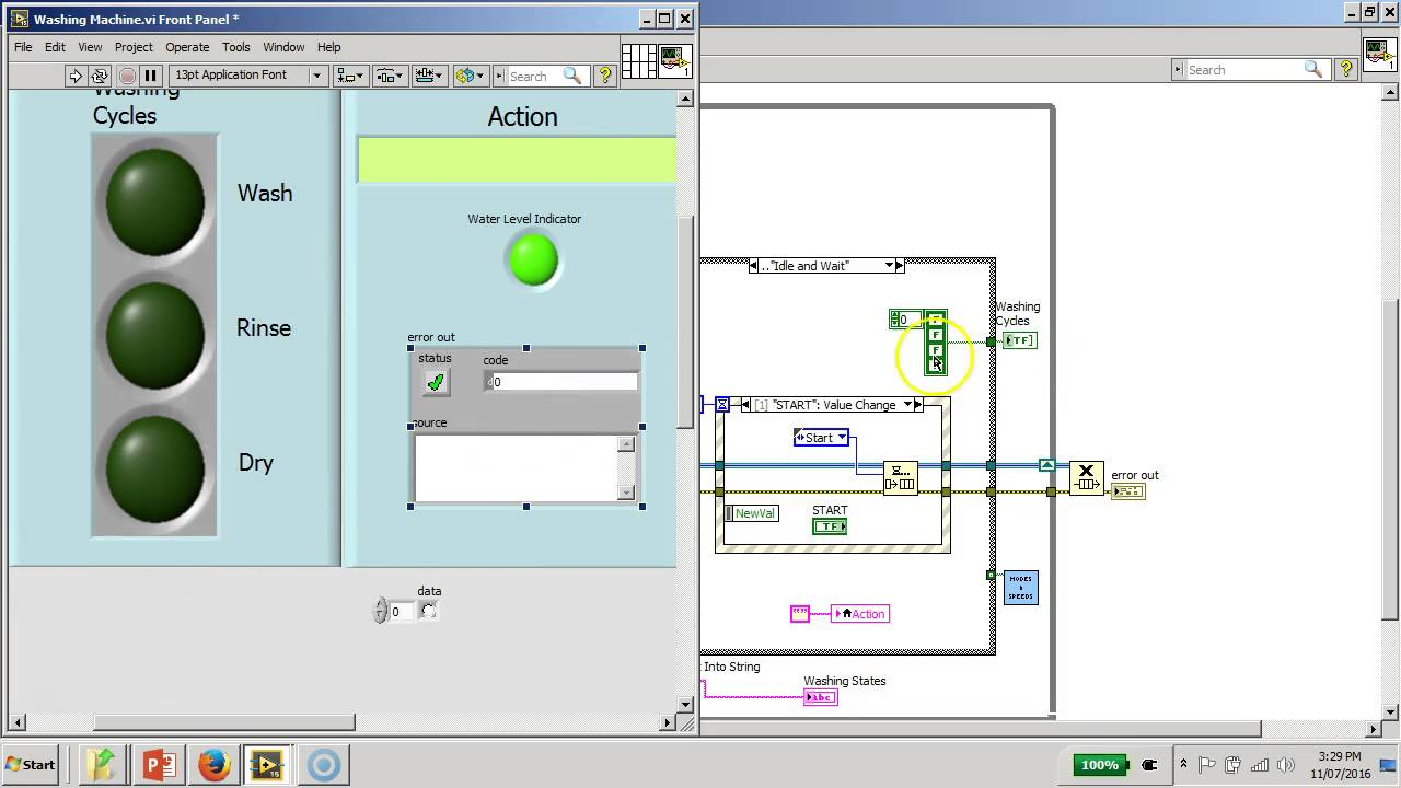 hight resolution of mini projectd washing machine controller board labview full block diagram explanation youtube