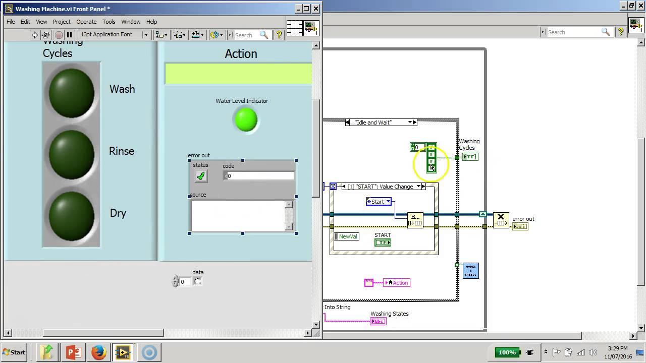 medium resolution of mini projectd washing machine controller board labview full block diagram explanation youtube