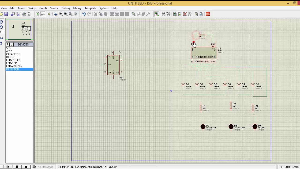 Traffic Light Using 555 Timer Ic In Proteus Youtube Projects For Beginners Delay Circuit Design