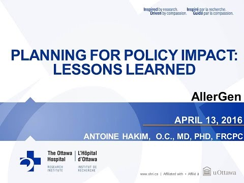 Planning for Policy Impact: Lessons Learned with Dr. Antoine Hakim