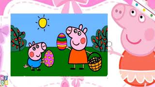 Peppa Pig and Pig Family Coloring Pages & Puzzle Games For Kids with Nursery Songs