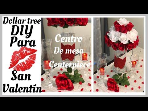 Dollar tree DIY para San Valentín/Centro de mesa y candelabros