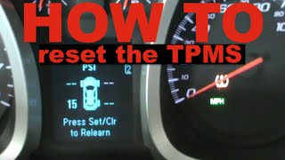 Chevy Equinox / GMC Terrain - How To Reset The TPMS