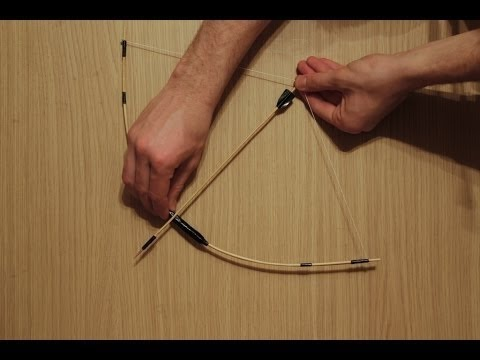 How To Make a Simple Bow and Arrows with Sticks - DIY