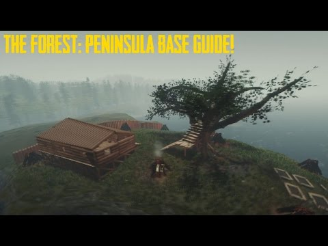 The Forest: Peninsula Base Building Guide (IMPROVED VERSION IN DESCRIPTION)
