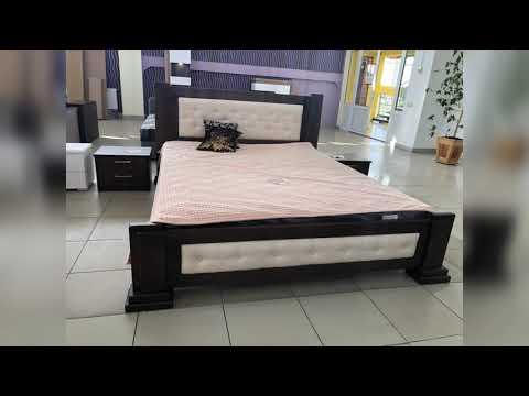 """Двоспальне ліжко з дерева """"Пан"""" відеоогляд."""