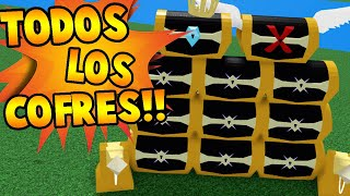 TODOS LOS COFRES DE BUILD A BOAT FOR TREASURE!!! | Roblox