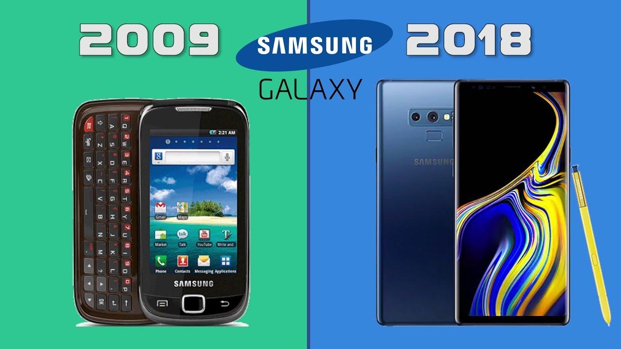 Evolution Of Samsung Galaxy Smartphones 2009 2018 Youtube