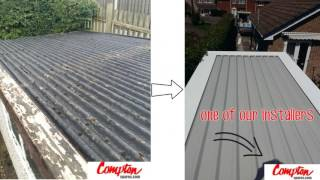 #garagerevamp @comptonspares replacement garage pent flat roof