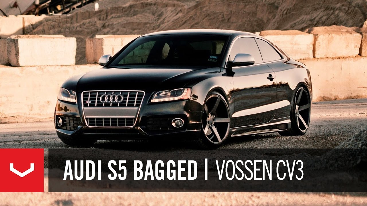 audi s5 bagged on 20 vossen vvs cv3 concave wheels rims youtube. Black Bedroom Furniture Sets. Home Design Ideas
