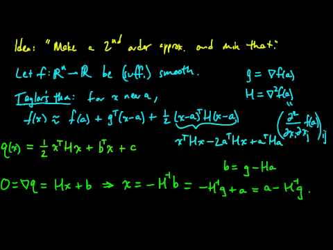 (ML 15.2) Newton's method (for optimization) in multiple dimensions