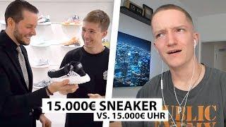 Justin reagiert auf 15.000€ Uhr vs. 15.000€ Sneaker | Reaktion