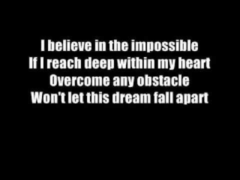 Fantasia I Believe with lyrics