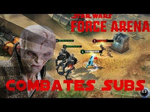 Star Wars Force Arena (EN ESPAÑOL) - Combates Subs con Rey y el Lider Supremo Snoke - Ep. 39