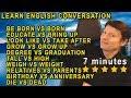BE BORN VS BORN | DIED VS DEAD | GROW VS GROW UP | Learn English Live 65 with Steve Ford