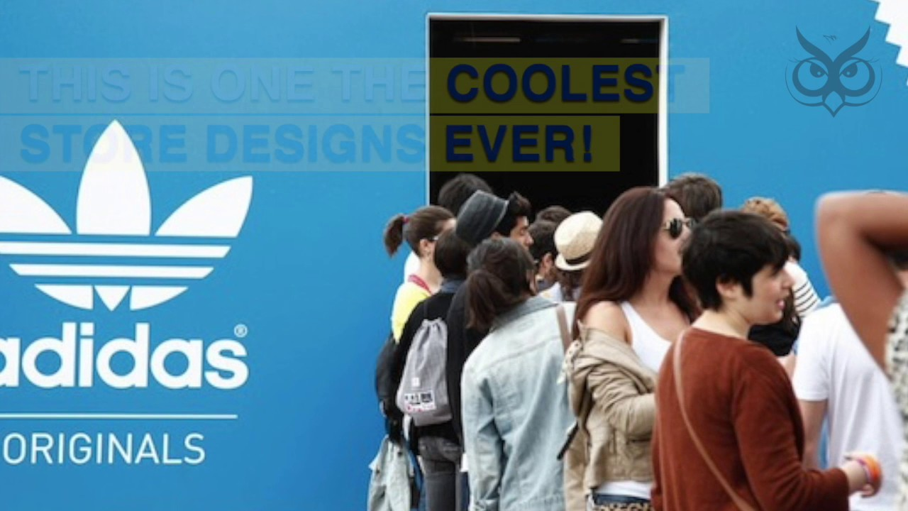47812f41b02 This Adidas Store Is Shaped Like A Giant Shoebox - YouTube