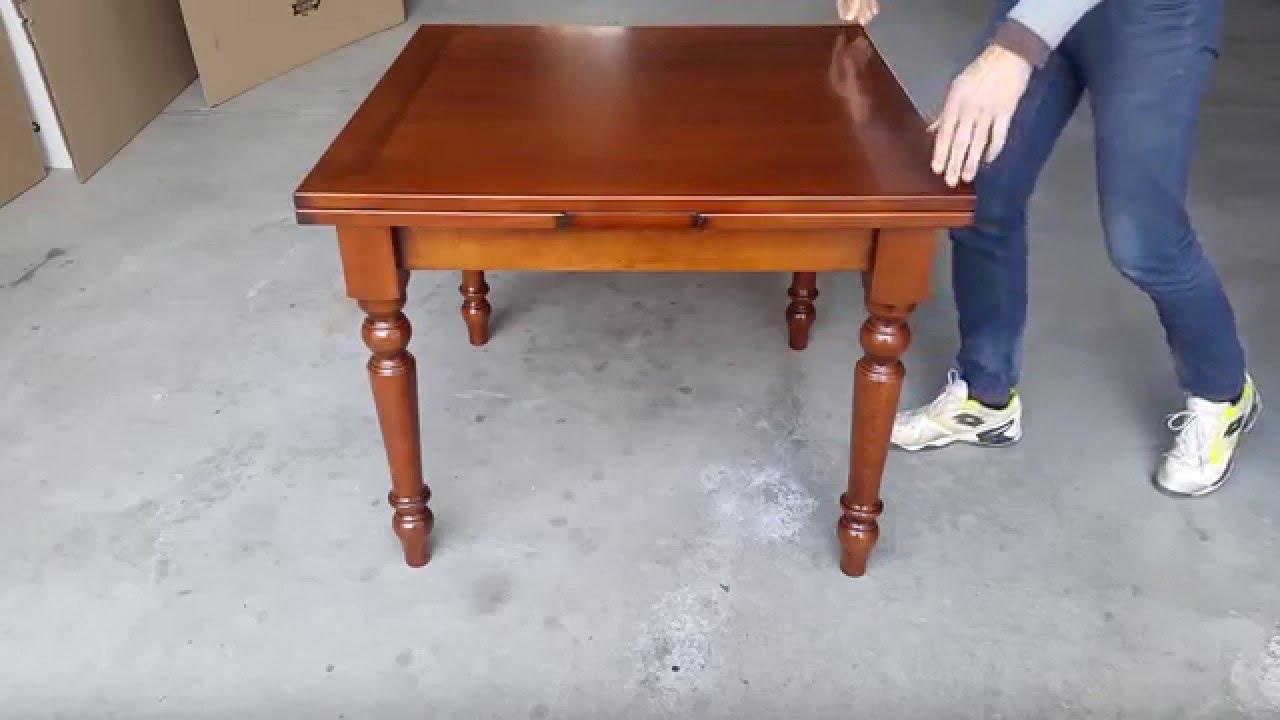 tavolo quadrato allungabile a tiro 90x90 100x100 youtube