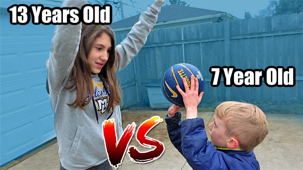 7 Year Old EXPOSES 13 Year Old Sister in 1v1 BASKETBALL   Colin Amazing