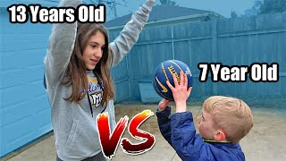 7 Year Old EXPOSES 13 Year Old Sister in 1v1 BASKETBALL | Colin Amazing
