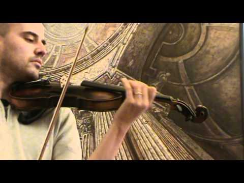 Antique lionhead violin mother of pearl inlays # 614