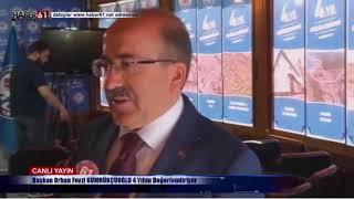Orhan Fevzi Gümrükçüoğlu Haber61'e konuştu