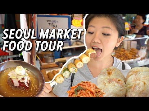KOREAN STREET FOOD 🥟 LARGEST Traditional Market Food Tour in Seoul, South Korea | Namdaemun Market
