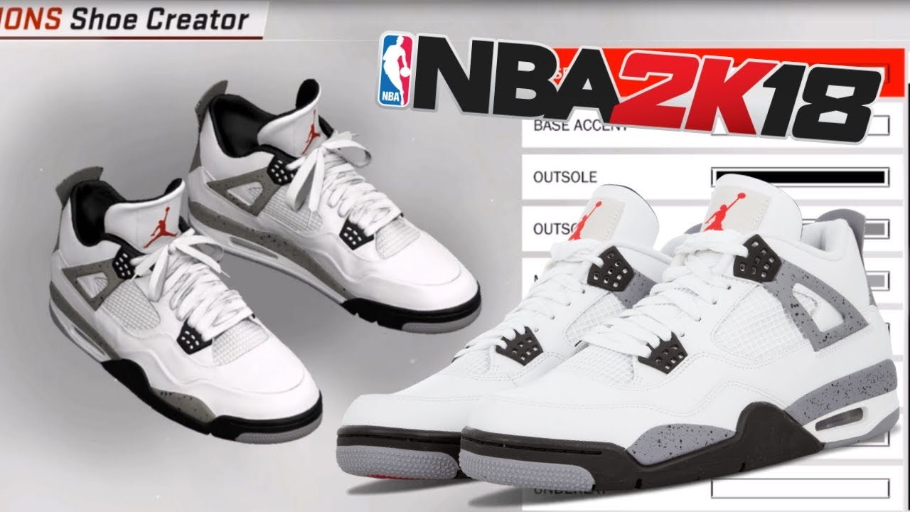 NBA 2K18 Shoe Creator | Air Jordan 4