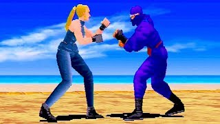 Virtua Fighter REMIX (1995) Sarah Bryant Playthrough / Saturn