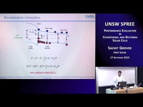 UNSW SPREE 201509-17 Sachit Grover - Performance Evaluation in Conventional and Rectenna Solar Cells