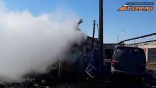 Пожар ГСК Север Северодвинск(, 2015-04-06T09:30:53.000Z)