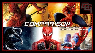 Spiderman 1-3/ Spiderman Web of Shadows/ The Amazing Spiderman Game Play Comparison