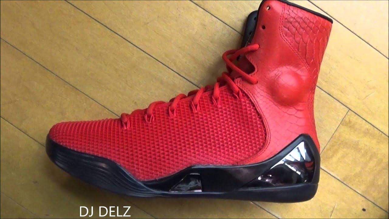 Nike Kobe 9 Red October PRM Elite High Sneaker Review With @DjDelz ...