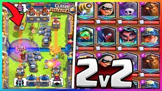 clash royale 2vs2 deck full legendaires avec la nouvelle carte legendaire feat bfa