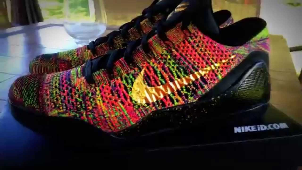 Kobe 9 Elite Multicolor Masterpiece MC HTM  Gold Throne  QS Low  UNBOXING+Review Nike ID Yeezy - YouTube 3a6771a4f6