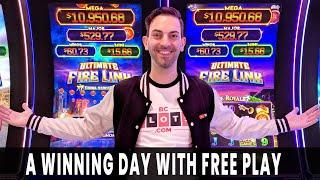 💵 WINNING w/ FREE PLAY 💰 Last Spin BONUS Helps Us DOUBLE UP 🎰#AD