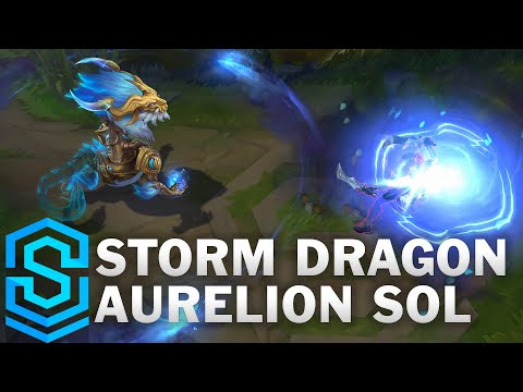 Storm Dragon Aurelion Sol Skin Spotlight - League of Legends