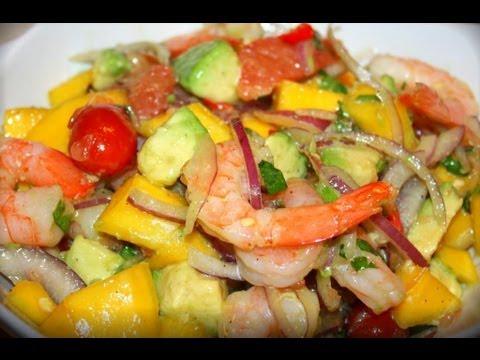 Shrimp Avocado & Mango Salad.