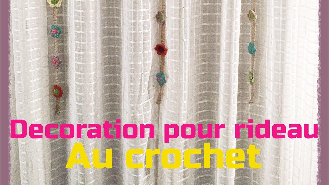 Merveilleux Tuto Deco Fleur Pour Rideau Au Crochet   Très Facile à Réaliser