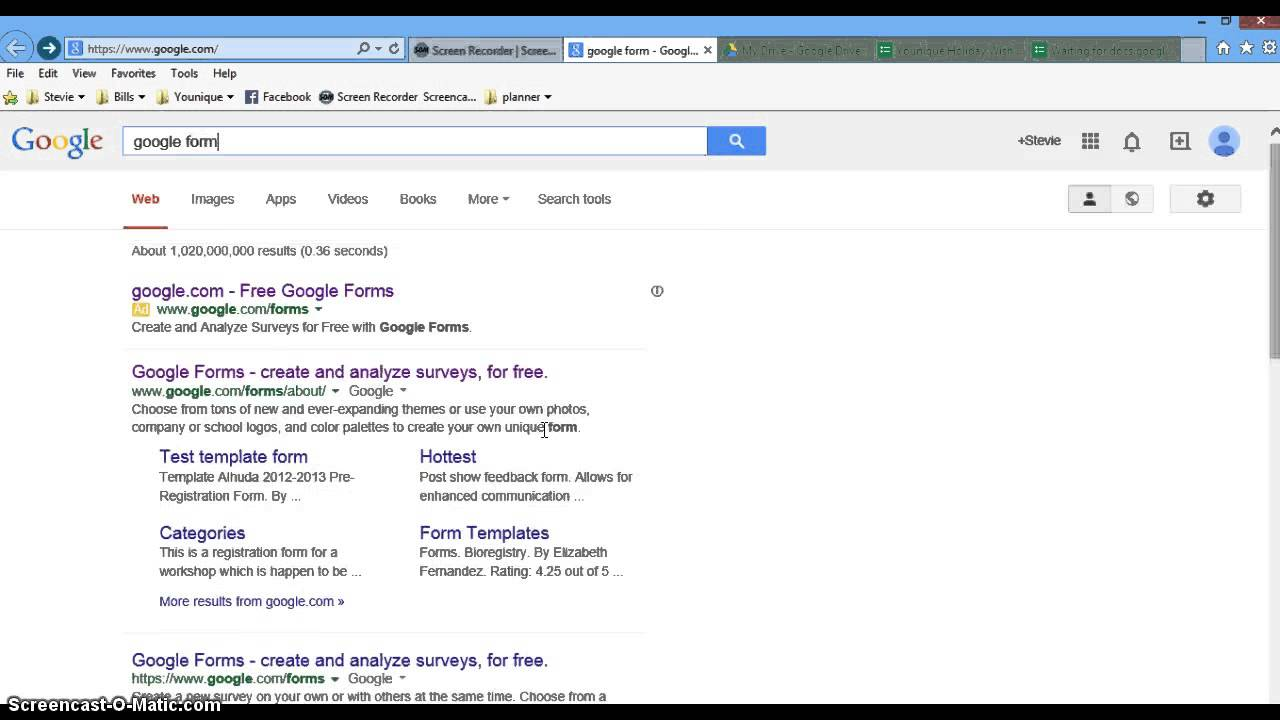 Younique: How to create a google form - YouTube